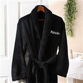 Just For Him Embroidered Luxury Fleece Robe - 8057