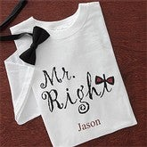 Mr. Right© Personalized T-shirt - 8071-MR