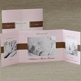 Welcomed With Love Baby Photo Announcement- Pink - 8078-P