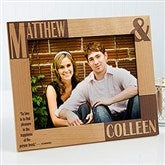 Because Of You Personalized Frame- 8 x 10 - 8098-L