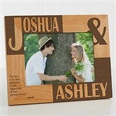 Because Of You Personalized Frame- 5 x 7 - 8098-M