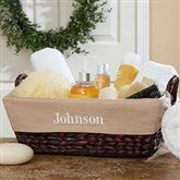 Embroidered Wicker Basket- Monogram - 8119-M