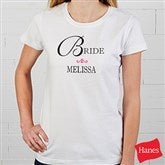 Bridal Party Personalized Ladies T-Shirt - 8128-FT