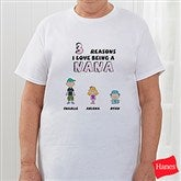 Her Reasons Why Personalized Hanes® Adult T-Shirt - 8159-CT