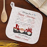 Recipe for a Happy Marriage Potholder