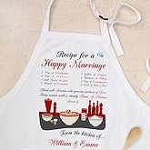 Recipe for a Happy Marriage© Apron - 8160-A