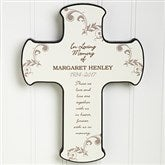 In Loving Memory Personalized Cross - 8202