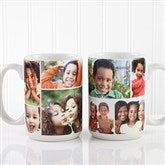 Create A Photo Collage Personalized Coffee Mug 15 oz.- White - 8214-L