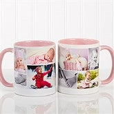 Create A Photo Collage Personalized Coffee Mug 11 oz.- Pink - 8214-P