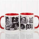Create A Photo Collage Personalized Coffee Mug 11 oz.- Red - 8214-R