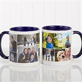 Create A Photo Collage Personalized Coffee Mug 11 oz.- Blue - 8214-BL