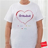 All Our Hearts Personalized Hanes® Adult T-Shirt - 8218-TS