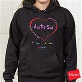 All Our Hearts Black Hooded Sweatshirt - 8218BS