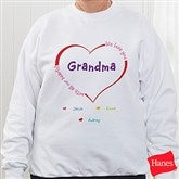 All Our Hearts Personalized White Sweatshirt - 8218S