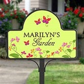 Floral Welcome Personalized Magnetic Garden Sign - 8233-M