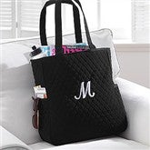 Embroidered Quilted Tote - 8250-T