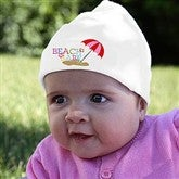 Beach Babe© Personalized Infant Cotton Hat - 8277-H