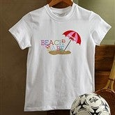 Beach Babe Personalized Youth T-Shirt - 8277-YWT