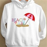 Beach Babe© Personalized Toddler Hooded Sweatshirt - 8277-THS