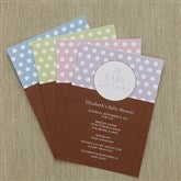 Pretty Polka Dot Baby Shower Invitations - 8286