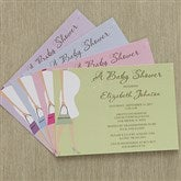 Baby Bump Baby Shower Invitations - 8287