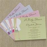 Baby Bump Baby Shower Invitations - 8287