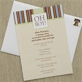 Oh Boy! Baby Shower Invitations - 8289