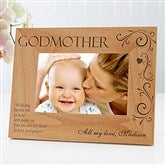 Godparent Personalized Photo Frame- 4 x 6 - 8299-S