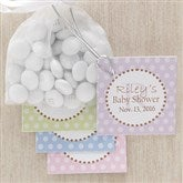 Pretty Polka Dot Baby Shower Party Favor Tag - 8309