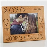 Hugs & Kisses Personalized Picture Frame- 5 x 7 - 8334-M