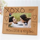 Hugs & Kisses Personalized Picture Frame- 4 x 6 - 8334