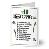 Top 10 Golfers Personalized Greeting Card - 8337