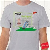 His Favorite Caddies Personalized Hanes® Adult T-Shirt - 8396-CT