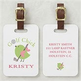 Golf Chick Personalized Ladies Bag Tag - 8438