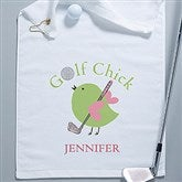 Golf Chick Personalized Ladies Golf Towel - 8440k-W