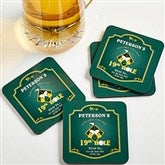 19th Hole© Personalized Bar Coaster Set - 8442