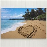 Our Paradise Island Personalized Canvas Print- 24