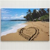 Our Paradise Island Personalized Canvas Print- 20