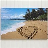 Our Paradise Island Personalized Canvas Print- 16