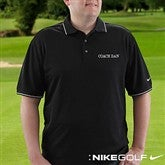 Personalized Nike Dri-FIT® Black Polo Shirt--Name - 8494-N