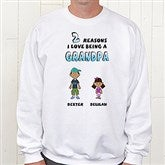 His Reasons Why Personalized Adult Sweatshirt - 8569S