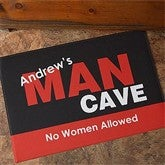 Man Cave Personalized Doormat - 8576