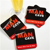 Man Cave Personalized Coaster Set of 4 - 8577