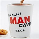 Man Cave Personalized Shot Glass - 8582