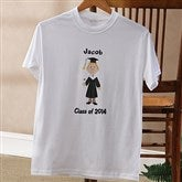 Graduation Characters© Personalized Adult T-shirt - 8587-A