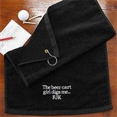 You Name It! Personalized Golf Towel - 8594