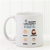 His Reasons Why Personalized Coffee Mug- 11 oz.- White - 8603-S