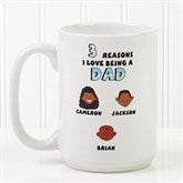 His Reasons Why Personalized Coffee Mug- 15 oz.- White - 8603-L