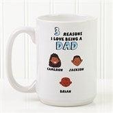 His Reasons Why Personalized Coffee Mug- 15 oz.- White - 8603-L