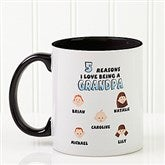 His Reasons Why Personalized Coffee Mug- 11oz.- Black - 8603-B